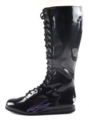 The Undertaker Signed Wrestling Boot (JSA COA