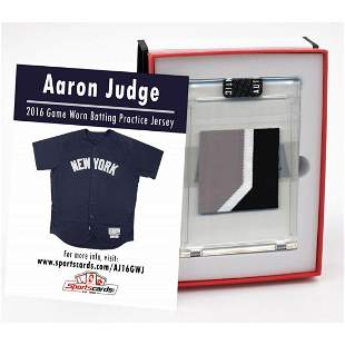 AARON JUDGE 2016 NY YANKEES GAME WORN BP JERSEY MYSTERY