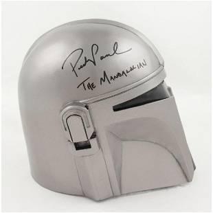 """Pedro Pascal Signed """"The Mandalorian"""" Full-Size Helmet"""