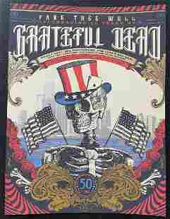 """Grateful Dead Numbered Edition/800 """"Fare Thee Well"""" Pos"""