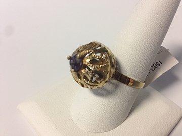 Ladies 10k Vintage Style Dome Ring