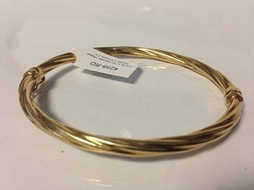 Ladies 10K yellow gold split Bangle Bracelet