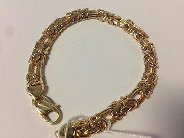 Ladies Kings Weave 14k Yellow Gold Bracelet