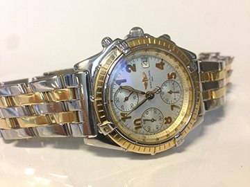 Gents Breitling Chronomat in 18K and Stainless