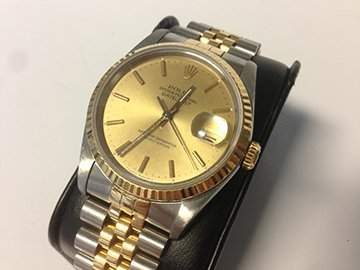 Gents Rolex Datejust in stainless and gold