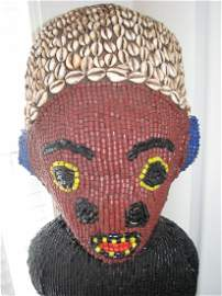 AFRICAN BAMILEKE TRIBAL BEADED CHIEF W/ THRONE Cameroon