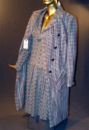 NEW CHANEL DRESS & JACKET ENSEMBLE: WOOL L/S V-NEC