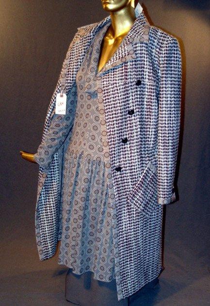 654: NEW CHANEL DRESS & JACKET ENSEMBLE: WOOL L/S V-NEC