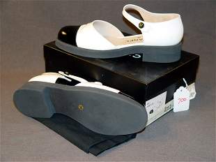 """NEW CHANEL SHOES: WHITE PATENT LEATHER """"MARY JANE"""""""