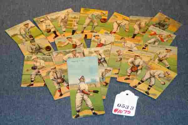 LOT 29 FOLDING MECCA CIGARETTE BASEBALL CARDS