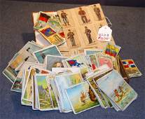 1075: LOT OF OVER 220 EARLY CIGARETTE CARDS INCL LIGHT