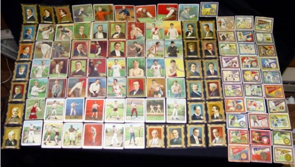 2750: CIGARETTE CARDS, APPROX 139 SPORTING FIGURES AND