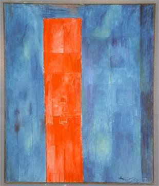 "J.K. HANSEGGER (578) O/C ""MAN IN RED""1959. S/ LR"