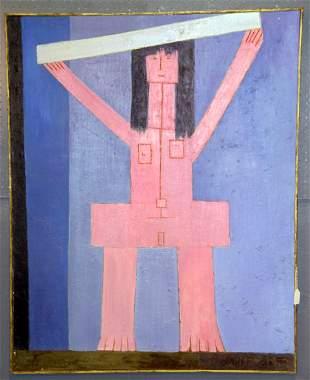 "J.K. HANSEGGER (610) O/C ""PINK LADY"" 1972. S/ LR"
