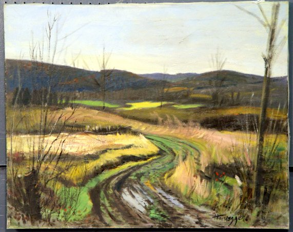 2763: J.K. HANSEGGER O/C RURAL LANDSCAPE. S/LR. GOOD CO