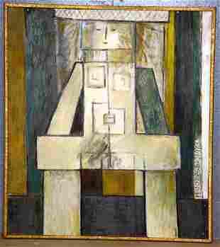 """J.K. HANSEGGER (588) O/B """"RESTING GIRL"""" 1954. S/"""