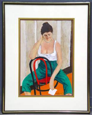 J.K. HANSEGGER (35) O/B SEATED FEMALE. S/LR. GOOD