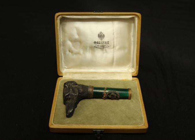 Henrik Wigstrom (1862-1923) Faberge cane handle