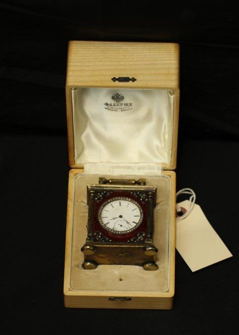 Erik Kollin (1836-1901) Faberge carriage clock