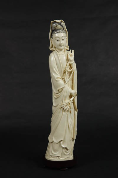 Chinese Carved Guanyin