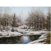 Russian School, Original Oil Painting on Canvas