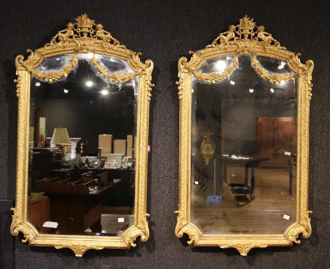 Pair of Louis XVI Style Giltwood Mirrors