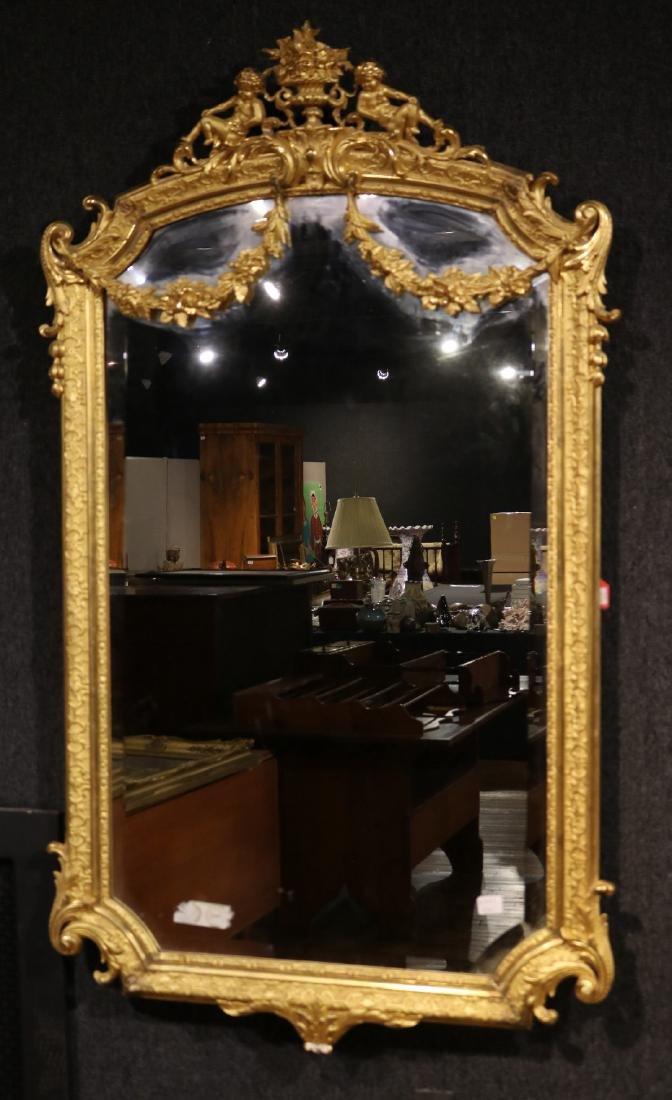 Pair of Louis XVI Style Giltwood Mirrors - 2