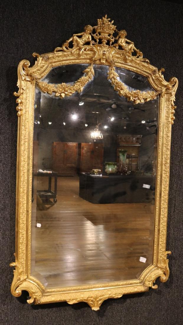Pair of Louis XVI Style Giltwood Mirrors - 8