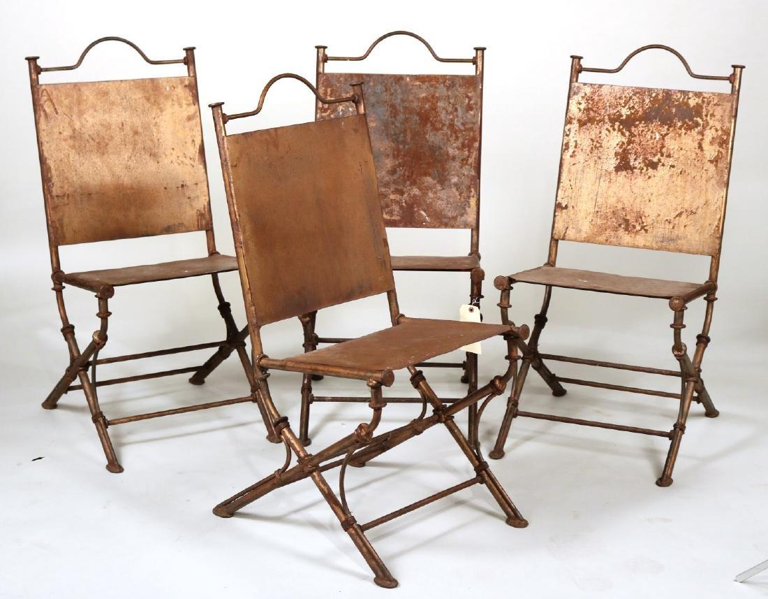 Four Wrought-Iron Garden Chairs