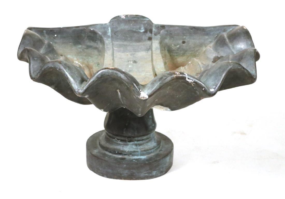 Bronze Shell Form Fountain Basin