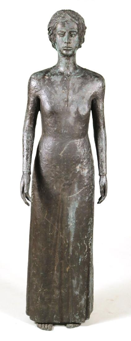 Life Sized Bronze Sculpture of a Standing Woman