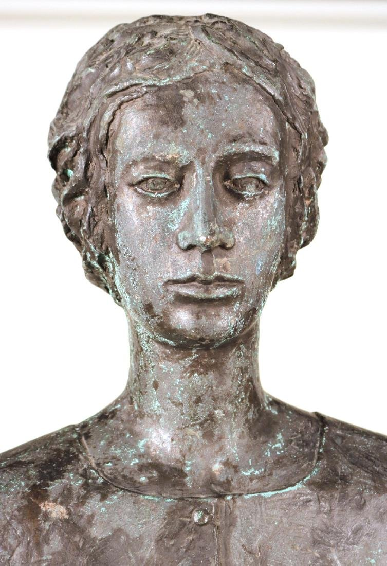 Life Sized Bronze Sculpture of a Standing Woman - 2