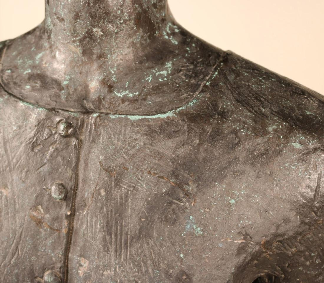 Life Sized Bronze Sculpture of a Standing Woman - 3