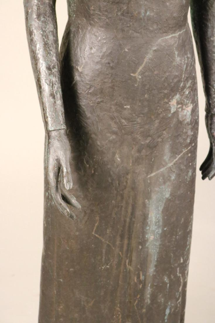 Life Sized Bronze Sculpture of a Standing Woman - 4