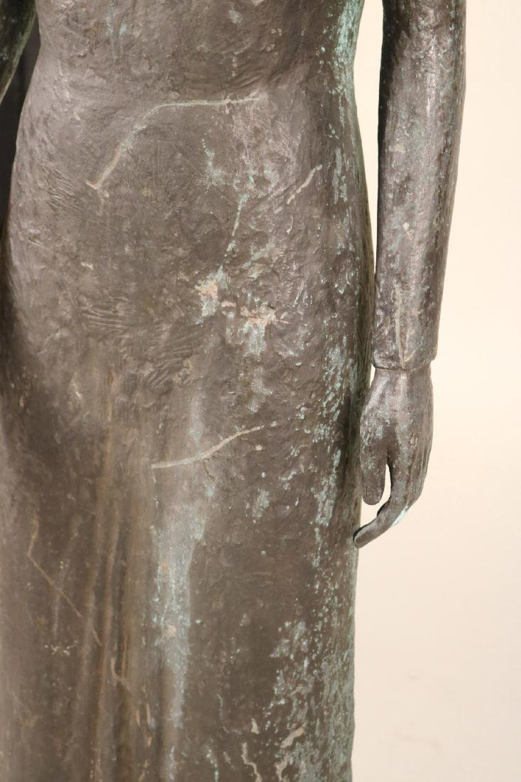 Life Sized Bronze Sculpture of a Standing Woman - 5