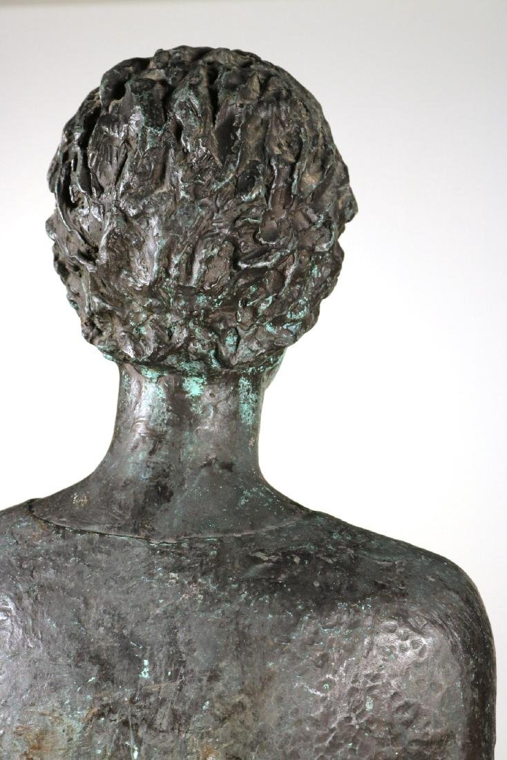 Life Sized Bronze Sculpture of a Standing Woman - 8