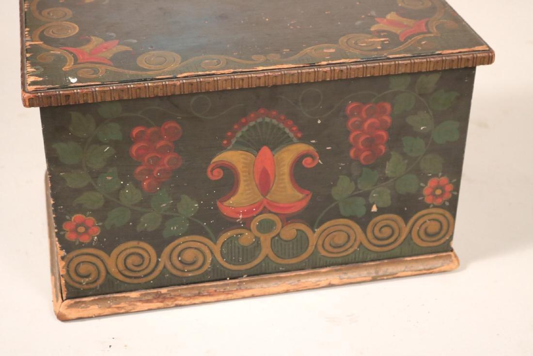Paint-Decorated Diminutive Chest - 4