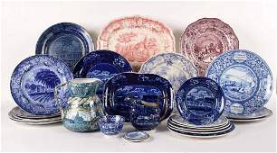 Collection of Blue and White Transferware