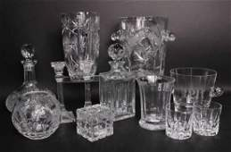 Group of Crystal and Glass Table Articles