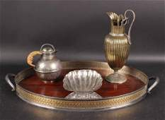 Silver Shell Form Dish
