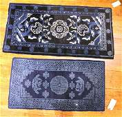 Two Chinese Art Deco Throw Rugs