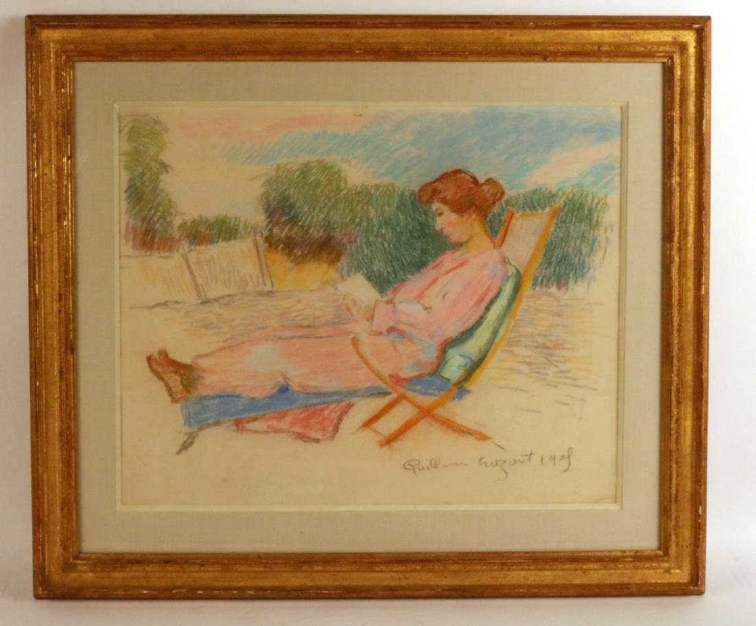 Pastel of Woman, Jean-Baptiste Armand Guillaumin