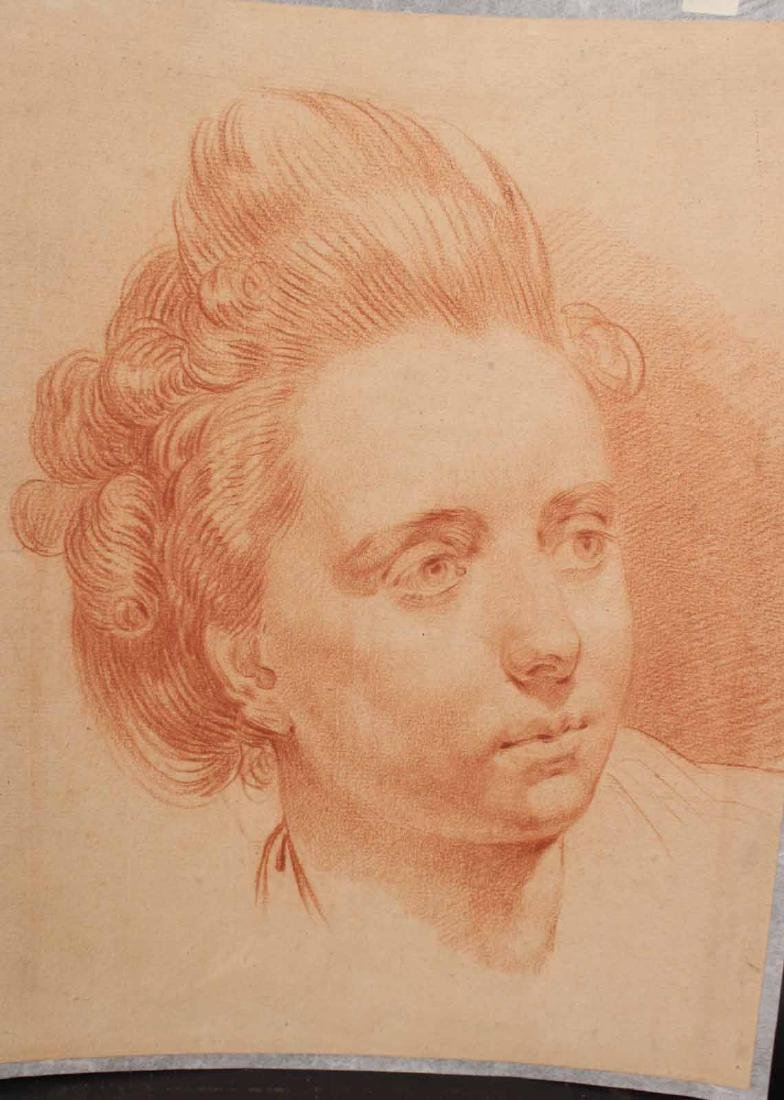 Chalk on Paper, Head of a Woman, Francois Boucher - 2