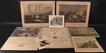 Eight Napoleon Related Engravings