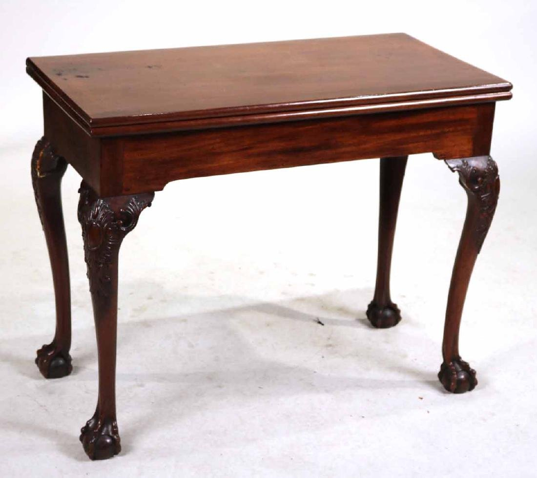 George II Carved Mahogany Games Table