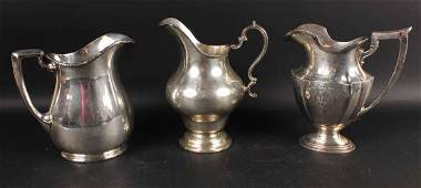 Two Gorham Sterling Silver Water Pitchers
