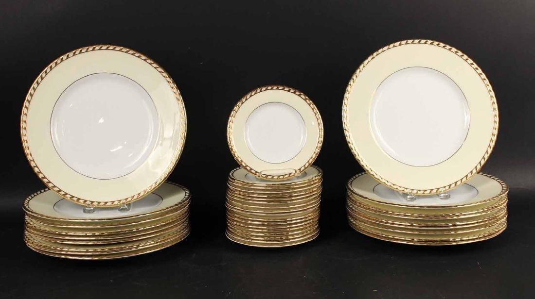 "Minton ""Commodore"" Pattern Dinner Plates"