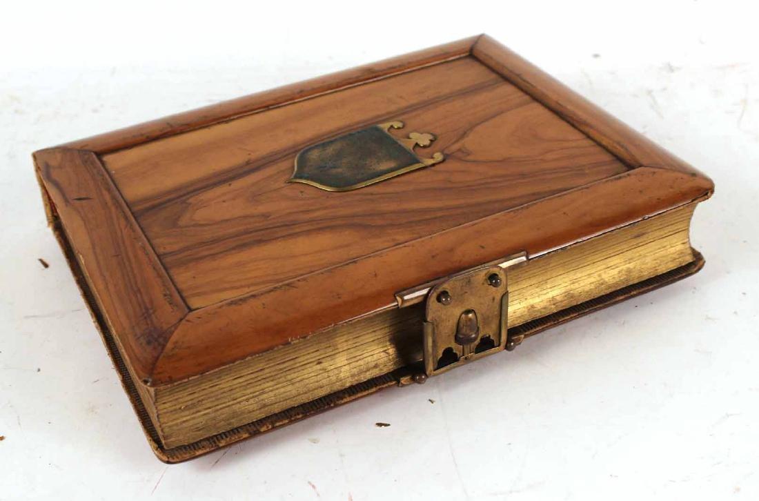 Victorian Oak Buckled Photo Album