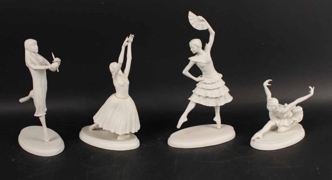 Four Boehm Bisque Ballet Figures