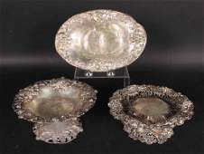 Three Sterling Silver Table Items